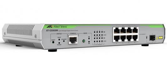 Картинка для Коммутатор Allied Telesis AT-GS908M-50 управляемый 8 портов 10/100/1000TX 1xSFP