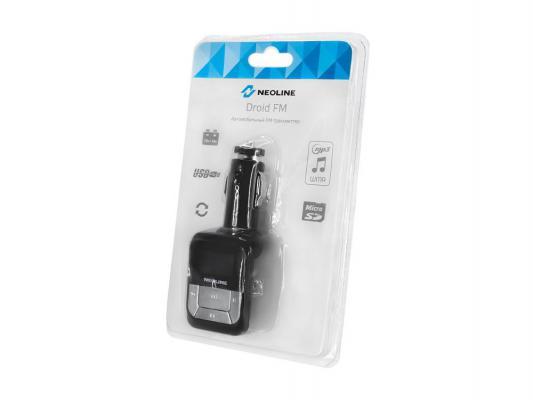 FM трансмиттер Neoline Droid FM microSD USB пульт ДУ черный