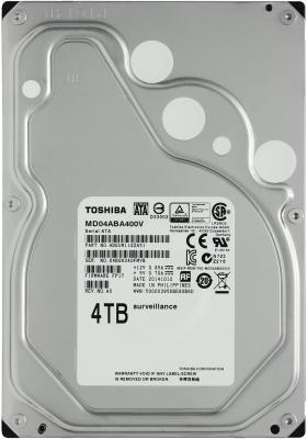 Жесткий диск 3.5 SATA 4Tb 5900rpm 128Mb Toshiba MD04ABA400V toshiba toshiba x300 серии 4tb 7200 оборотов 128m sata3 настольный жесткий диск hdwe140