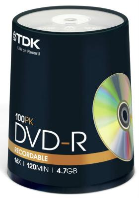 ����� DVD-R TDK 16x 4.7Gb CakeBox 100�� 19479