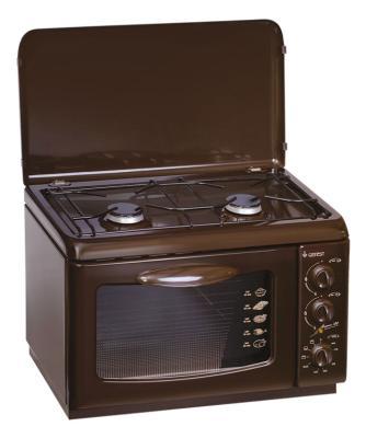 Комбинированная плита Gefest ПГЭ 120 К19 коричневый цена и фото