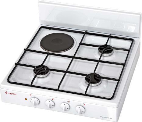 Комбинированная плита Gefest ПГЭ 910-01 белый комбинированная плита deluxe 506031 01 гэ крышка