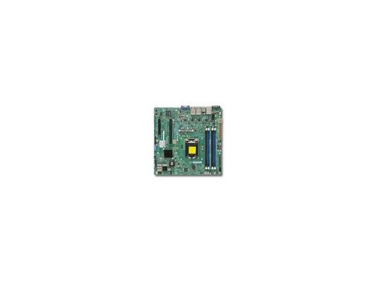 Материнская плата Supermicro MBD-X10SLM+-LN4F-O LGA1150 C224 4xDDR3 1xPCI-E 16x 1xPCI-E 8x 2xSATA2 4xSATA3 VGA 4xGLAN mATX