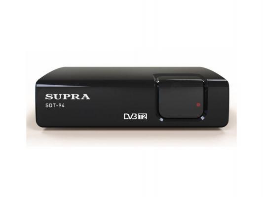 Тюнер цифровой DVB-T/DVB-T2 Supra SDT-94 черный