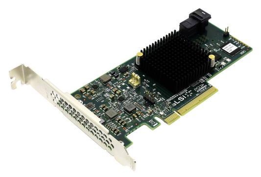 Контроллер LSI SAS 9341-4I SGL LSI00419 контроллер sas sata lsi megaraid sas9240 4i pci e 2 0 x8 lp sgl lsi00199