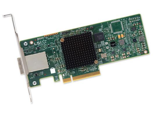 Контроллер LSI SAS 9300-8E SGL LSI00343 контроллер sas sata lsi logic lsi00298 sgl l5 25421 11