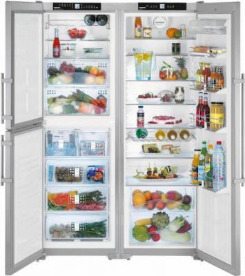 Холодильник Side by Side Liebherr SBSES 7353 серебристый холодильник liebherr cufr 3311 двухкамерный красный