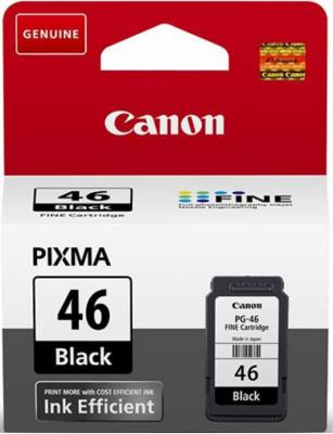 Картридж Canon PG-46 для Pixma E404/E464 черный 9059B001 картридж canon pg 40 черный pixma mp450 mp150 mp170 ip1600 ip2200 ip6210d 0615b025