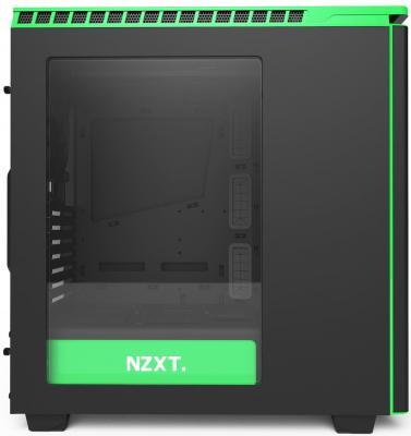 Корпус ATX NZXT H440 Без БП чёрный зелёный
