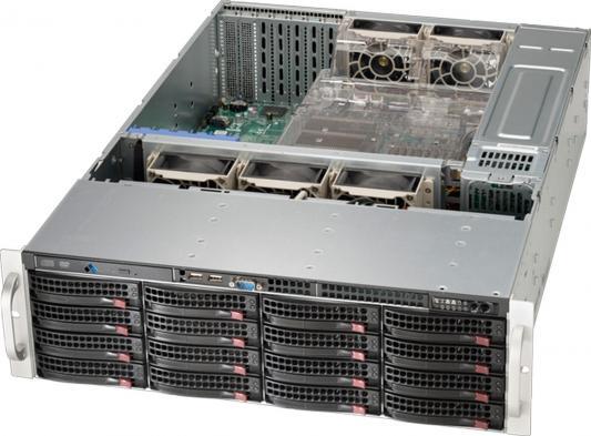Серверный корпус 3U Supermicro CSE-836BE16-R1K28B 1280 Вт чёрный
