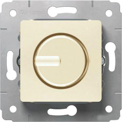 Светорегулятор Legrand Cariva поворотный 300Вт бежевый 773717