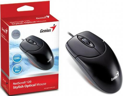 Мышь проводная Genius NetScroll 120 чёрный USB 31011293109