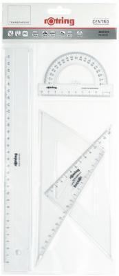 Набор Rotring Centro 4 предмета линейка 30см угольник 30°/60° длина 20см угольник 45° S0221370