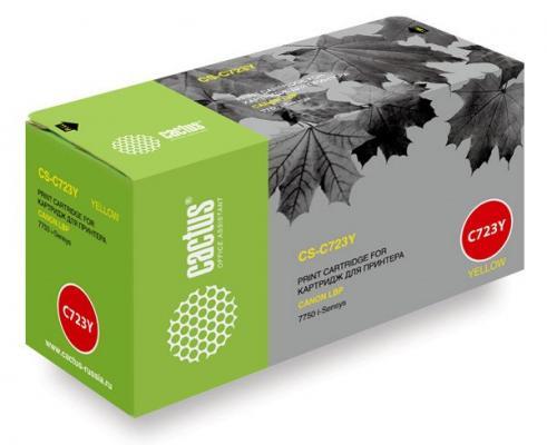 Картридж Cactus CS-C723Y для Canon LBP 7750 i-Sensys желтый 8500стр картридж cactus cs c723y yellow для canon i sensys 7750