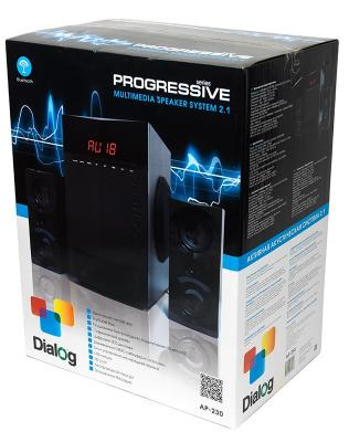 Колонки Dialog Progressive AP-230 2x15 + 35 Вт USB+SD reader черный