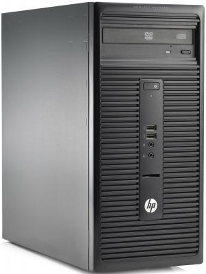 Системный блок HP 280 G1 MT G3250 3.2GHz 2Gb 500Gb Intel HD DVD-RW Win7Pro+Win8Pro клавиатура мышь черный K3S59EA  280 G1 MT