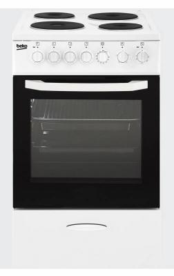 Электрическая плита Beko CSS 46100 GW белый электрическая плита beko mcss 58000 gw