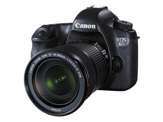 Зеркальная фотокамера Canon EOS 6D 24-105 IS 20.2Mp черный 8035B108 canon eos 6d body в москве