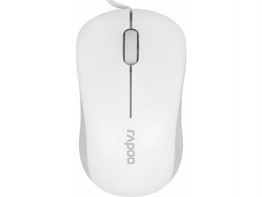Мышь RAPOO N1130 белый USB 13743 rapoo n1850