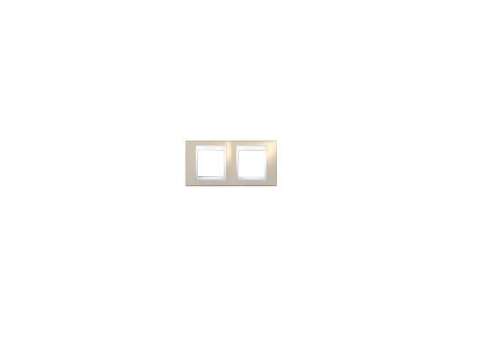 Рамка 2 пост песчаный/белый Schneider Electric MGU6.004.867
