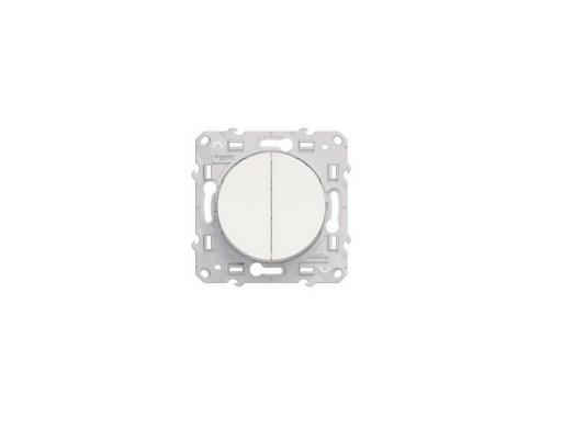 Переключатель Schneider Electric Odace 2-клавишный белый S52R213  выключатель schneider electric odace для управления приводом жалюзи белый s52r207