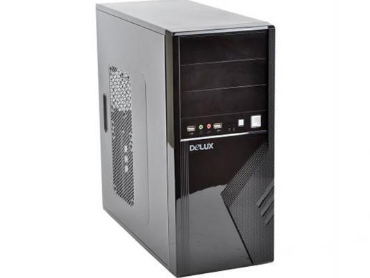 Корпус ATX Delux 2817B 420 Вт чёрный серебристый