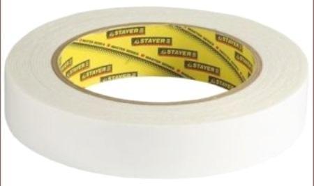 Лента Stayer PROFI двусторонняя на вспененной основе белая 19мм х 5м 12231-19-05 лента малярная креповая stayer profi