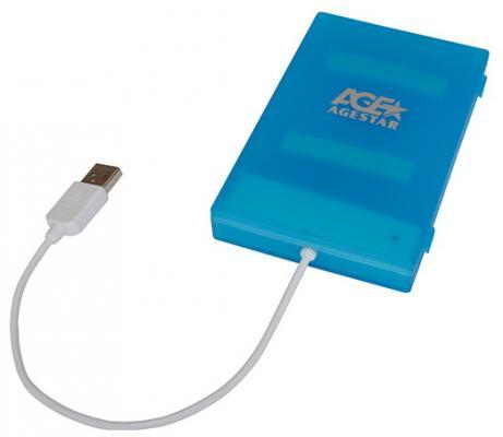 """все цены на Внешний контейнер для HDD 2.5"""" SATA AgeStar SUBCP1 USB2.0 синий"""