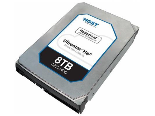 """Жесткий диск 3.5"""" SATA 8Tb 7200rpm 128Mb cache Hitachi HGST Ultrastar He8 HUH728080ALE604 0F23668"""