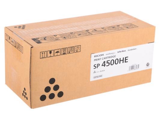 Картридж Ricoh SP 4500HE для SP 4510DN SP410SF черный 12000стр 407318 картридж ricoh sp c352e для ricoh sp c352dn цветной 12000стр