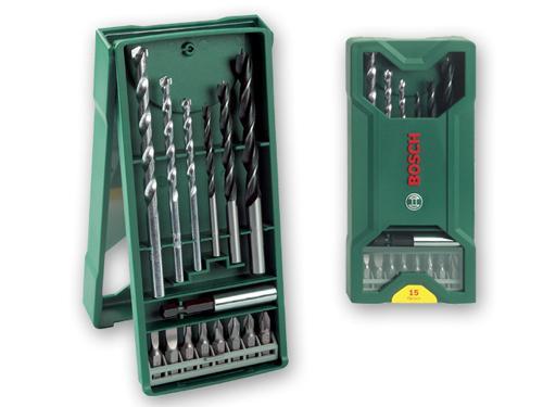 Набор бит и сверел Bosch Mini-X-Line 15шт 2607019579