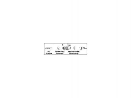 Адаптер антенный Hama H-44109 спутниковый коаксиальный (f) - F-штекер (m) металлический