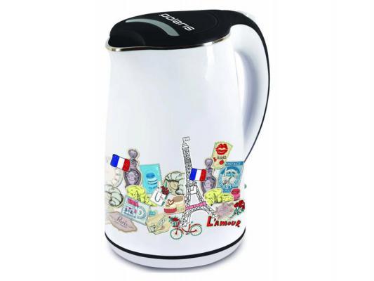 Чайник Polaris PWK 1742 CWR 2200Вт 1.7л металл/пластик белый
