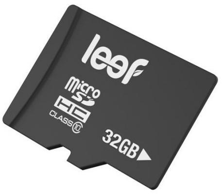 Карта памяти Micro SDHC 32Gb Class 10 Leef LMSA0KK032R5 + адаптер SD карта памяти micro sdhc 16gb class 10 leef lmsa0kk016r5 адаптер sd