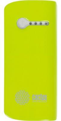 Портативное зарядное устройство Cactus CS-PBX2-5200GW 5200мАч бело-зеленый
