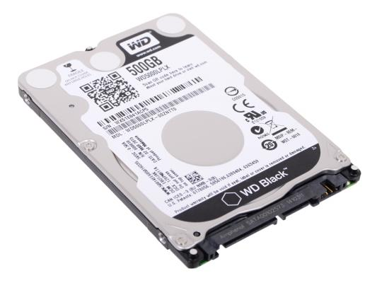 Жесткий диск для ноутбука 2.5 500 Gb 7200rpm 32Mb cache Western Digital Black SATAIII WD5000LPLX