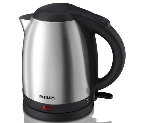 Чайник Philips HD9306/02 1800 Вт серебристый чёрный 1.5 л металл чайник philips hd9306 02 1800 вт 1 5 л металл серебристый чёрный