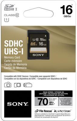 Карта памяти SDHC 16Gb Class 10 Sony SF-16UY
