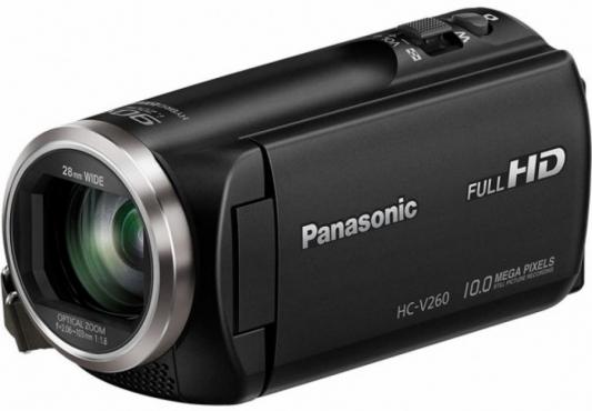 Цифровая видеокамера Panasonic HC-V260EE-K черный цифровая видеокамера panasonic hc v380 черный