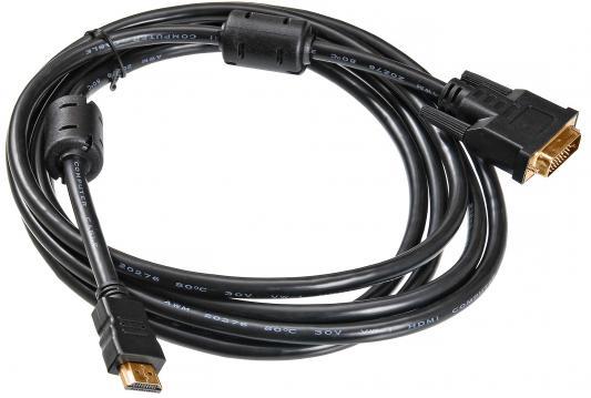 Кабель HDMI-DVI-D 1.8м Buro позолоченные контакты ферритовые кольца HDMI-19M-DVI-D-1.8M
