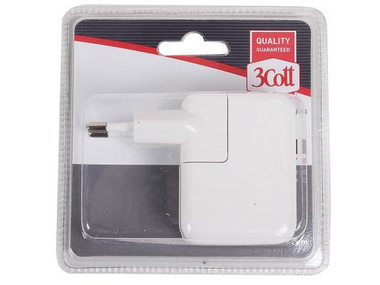 Сетевое зарядное устройство 3Cott 3C-WC-183W-2USB белый