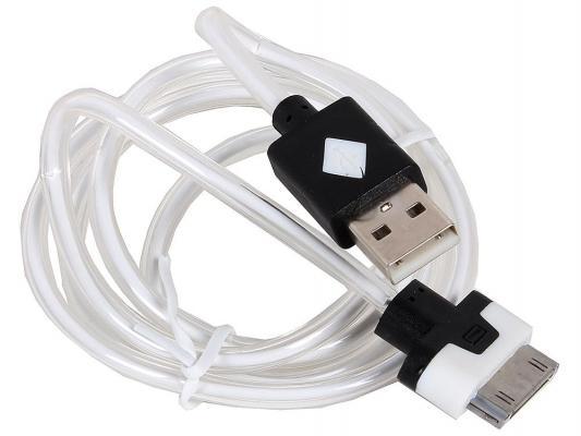 Кабель 3Cott 3C-LDC-064B-IP4 Apple 30-pin с подсветкой теплого оттенка 1м черный