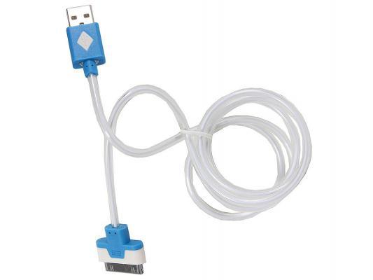 Кабель 3Cott 3C-CLDC-064BBL-IP4 Apple 30-pin с подсветкой холодного оттенка 1м синий