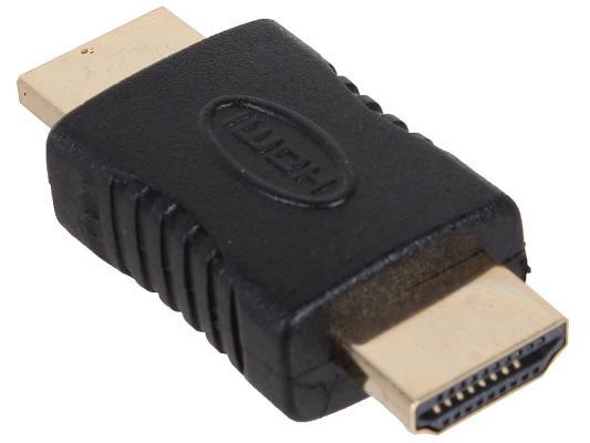 Переходник HDMI (M)-HDMI (M) позолоченные коннекторы черный 3Cott 3C-HDMIM-HDMIM-AD208GP