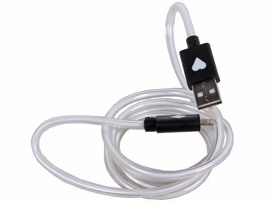 Кабель 3Cott 3C-LDC-065B-IP5 Apple Lightning MFI с подсветкой теплого оттенка 1м черный