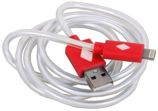 Кабель 3Cott 3C-LDC-065R-IP5 Apple Lightning MFI с подсветкой теплого оттенка 1м красный