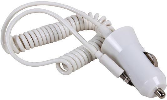цена на Автомобильное зарядное устройство 3Cott 3C-CC-142CW-1USB-1IP 8-pin Lightning 2.1A белый