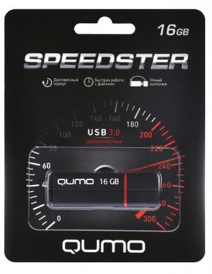 Флешка USB 16Gb QUMO 16GB Speedster черный QM16GUD3-SP-black флешка usb 16gb qumo 16gb lex белый qm16gud3 lex