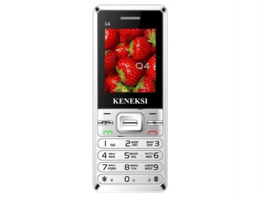 Мобильный телефон KENEKSI Q4 Silver серебристый с двумя сим-картами