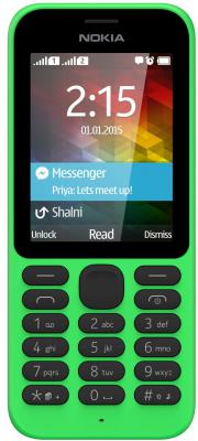 """Мобильный телефон NOKIA 215 Dual зеленый 2.4"""" 8 Мб"""